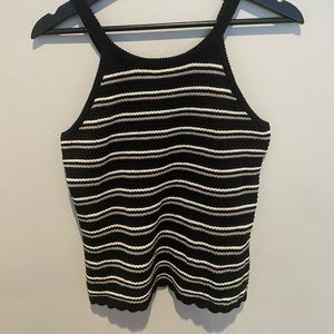 black and white cloud chaser tank